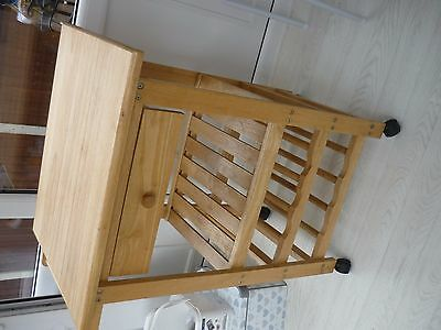 Solid wood kitchen trolley/ butcher block