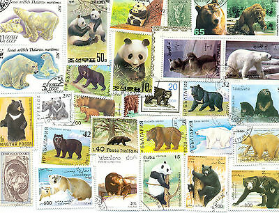 Bear  100 all different packet colourful lot collection