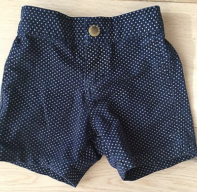 Pin Dot Navy Blue Baby Toddler COUNTRY ROAD Shorts 12-18M $54.95 Elastic Cotton