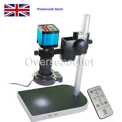 14MP 1080P HDMI USB Industry Video Microscope Camera+C-mount Lens DVR+Cam Stand