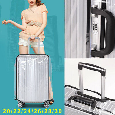 PVC Transparent Travel Luggage Protector Suitcase Cover 20''22''24''26''28''30''