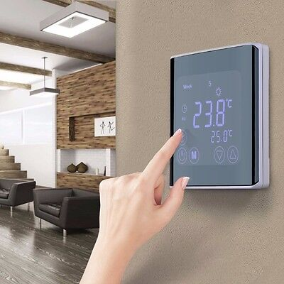 Programmable Underfloor Heating Thermostat LCD Touch Screen Temperature control