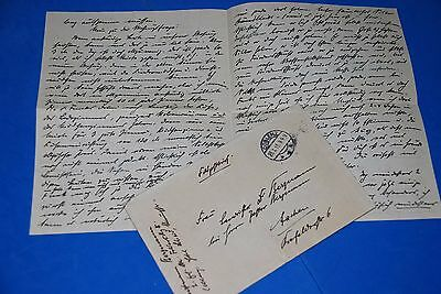 1918 World War, German Captain Field Post Vintage old Letter WWI, Antique L56