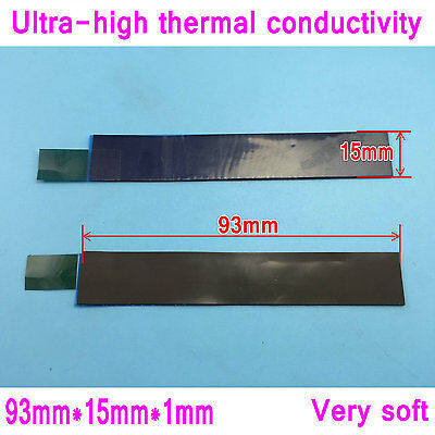 2pcs Laird 93mm*15mm*1mm Thermal Pad Cooling Pad Thermal Conductive Silicone Pad