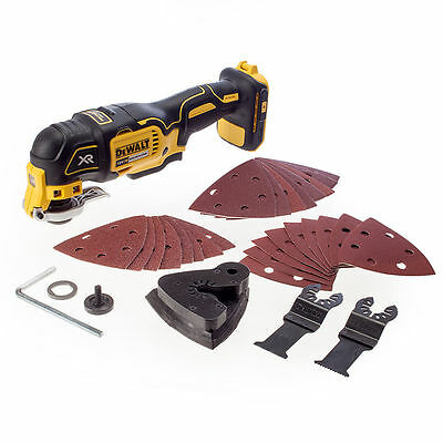 *NEW* DeWALT DCS355N 18V XR Brushless Oscillating Multi Tool NAKED + Accessories
