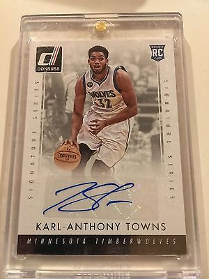 Karl Anthony Towns 2015-16 Donruss Signature Series SSP Auto RC Timberwolves