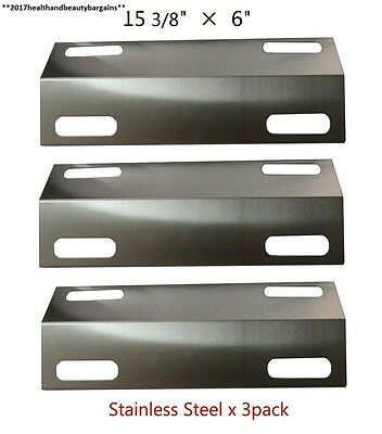 Bar.b.q.s BBQ 99351 3 pack Stainless Steel Heat Plate, Shield, Tent, Burner...