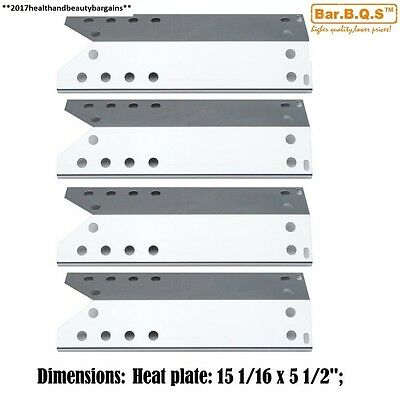 Bar.b.q.s 96781 4pack Replacement Gas Grill Stainless Steel Heat Shield,...