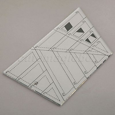 Quilting Sewing Patchwork Craft Scale Ruler Trapezoid Polygon Tailor Acrylic