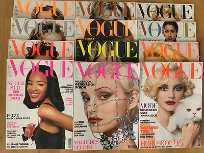 VOGUE GERMANY complete edition 1994 - 12 fashion magazines