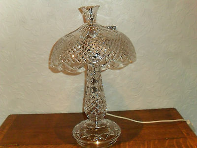 """Large Waterford Crystal Glass Achill Pattern Lamp"""" 19,1/2,inches High"""