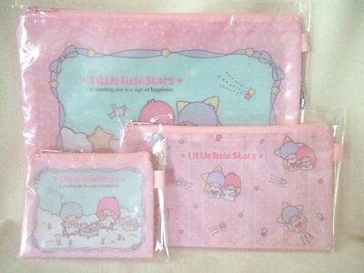 Sanrio Little Twin Stars three size pouch NEW flat pouch purse NEW