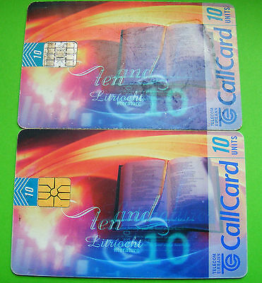 Pair Of Irish Phone Cards Literature Callcards 10 Units Different Chips Lot#382