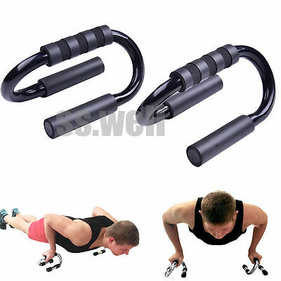 1 pair Push Up Bars Press Up Bar Foam Handle Exercise Pushup Chest Arms Fitness
