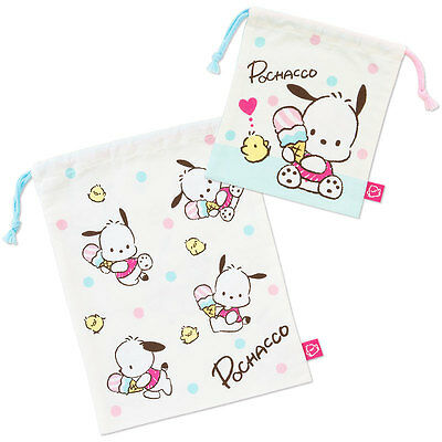 Pochacco Drawstring bag Ice MADE IN JAPAN worldwide F/S SANRIO from JAPAN