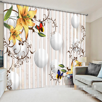 3D Squid Ball 7 Blockout Photo Curtain Printing Curtains Drapes Fabric Window CA