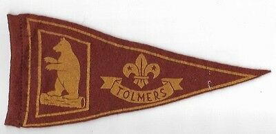 Scouts UK: vintage Tolmers pennant - 1950's