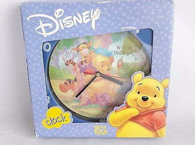 "Disney Winnie the Pooh 10"" Round Wall Clock BOXED Children Nursery  Battery Time"