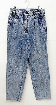 "VINTAGE RETRO HARA ORIGINAL 80s BLUE DENIM WESTERN MOM JEANS W28"" L29"" SIZE 10"