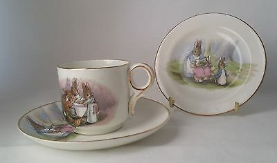 Grimwades Beatrix Potter Peter Rabbit Teacup, Saucer And Plate Trio