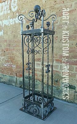Wrought Iron Gate Post Custom Made To Order