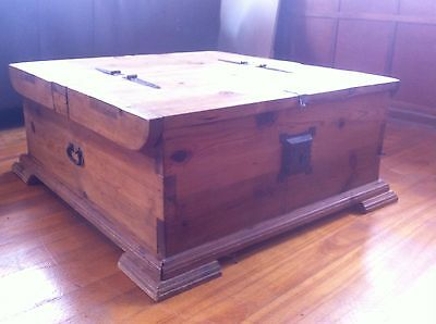 Solid Pine Chest Box Coffee Table Storage