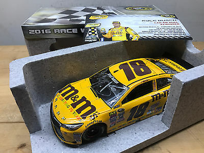 Kyle Busch 2016 M&M 75th Annv Can Am Duel win version signed Nascar diecast