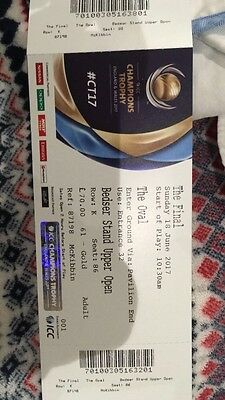 Two Champions Trophy Final tickets, Gold, June 18th. London Pickup Available.