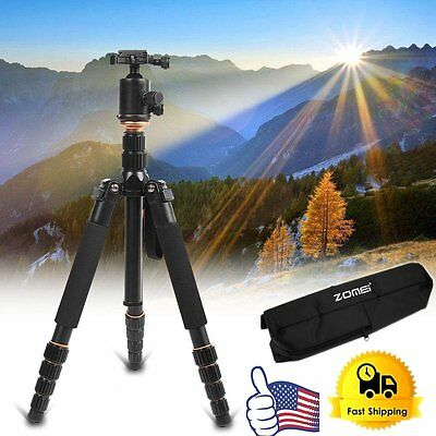 Q666 Portable Professional Tripod&Ball Head Compact Travel for Canon DSLR Cam AP
