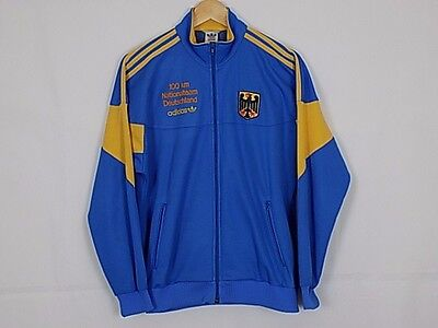 Adidas Jacket Vintage Originals Deutschland  Track Top Blue  Yellow Size M