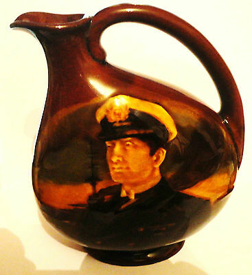 Royal Doulton Admiral of the Fleet *RARE* Kingsware Dewars Flask 1918 only VGC!