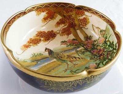 Fine Vintage Antique Japanese Satsuma Bowl Signed Japanese Porcelain Satsuma Bow