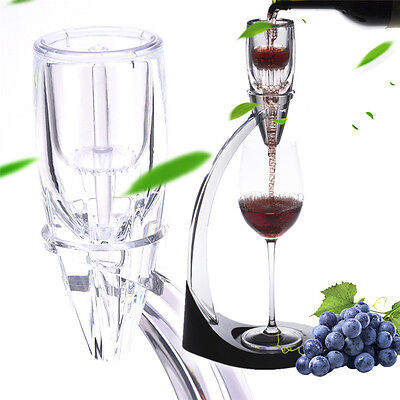 Acrylic Premium Red Wine Aerator & Decanter Pourer Bottle Stopper Gift Set