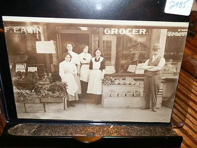 #2985,Real Photo,C.F. Eakin Grocer Canton Ohio Circa 1910 Storefront Superb