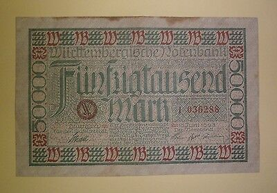 Rare 50,000 Mark German Banknote