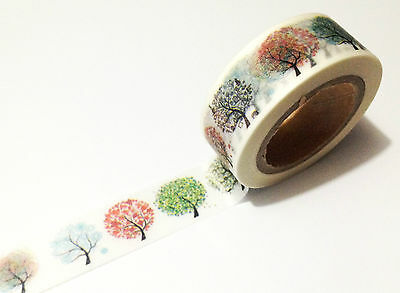 1PC Japanese Washi Tape Craft Sticker, Rainbow Season Trees Nature Weather 10M