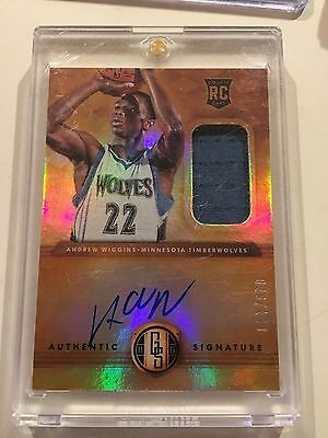 Andrew Wiggins 2014-15 Gold Standard RC Jersey Auto /199 Timberwolves