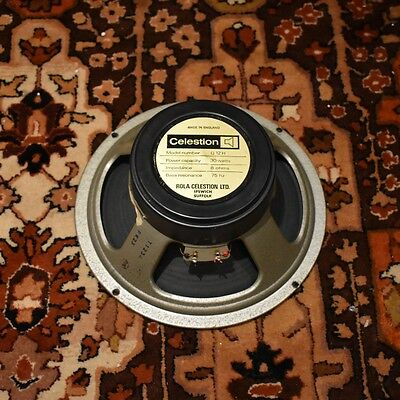 "Vintage 1977 Celestion T1234 G12H 8ohm 30w 12"" Blackback Green Speaker w/ 1777"
