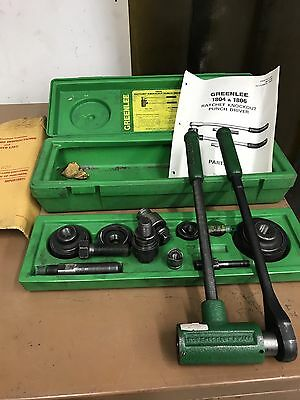 """Greenlee No.1806,Ratchet Punch Set,1/2-2"""" Punches & Arbors Slug Busters Complete"""
