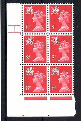 Wales SG W25 8p 2B Cylinder block unmounted mint