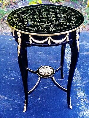 Brass ebony and gilt Occasional Cocktail side table
