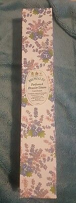 Bronnley Perfumed Drawer Liners New Lavender 6 Sheets
