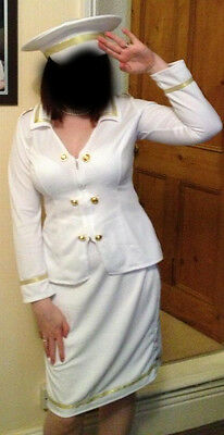 Size 12: Sailor outfit: Hat, shirt and skirt
