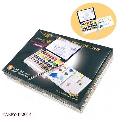 HOLBEIN WORKS PN698 Half Pan Watercolor 36 Color PALM BOX PLUS Japan Tracking