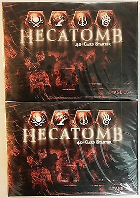 Two Hecatomb CCG 40 Card Starter Decks by WOTC NEW