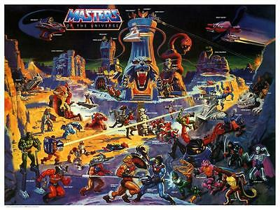 He-Man POSTER Eternia Map  - Masters of the Universe **VERY LARGE** He Man