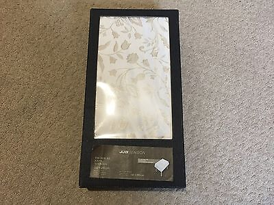 JJB Benson Table Cloth and Napkins Set New - Floral Pattern Cream/Gold