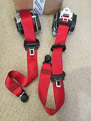 Porsche 991 Coupe Red Front & Rear Seat Belts Genuine 99180303304/99180303505
