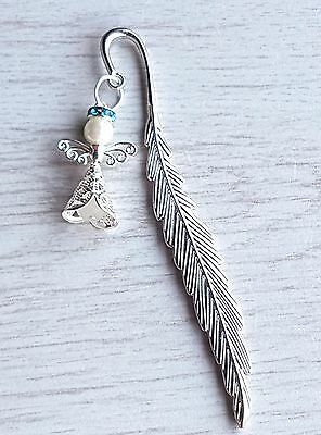NEW GUARDIAN ANGEL 12cm  BOOKMARK WITH  CHARM  NOVELTY GIFT BOOKMARKS