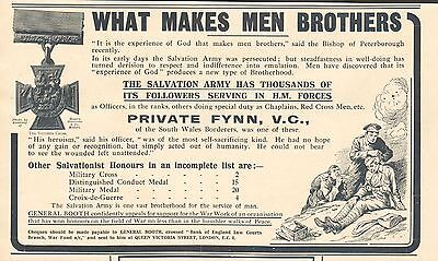 1917 Antique Print- Advert-Salvation Army-Private Flynn, V.c.